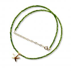 Yıldız Madalyonlu Yeşil Kuvars Kolye